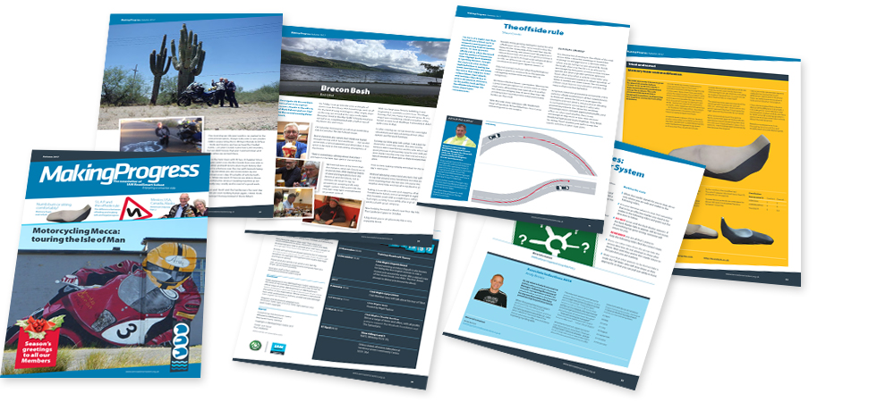 Image of pages from IAM RoadSmart Solent's  newsletter Making Progress
