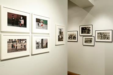 Image showing some of the colour photographs mounted on the wall