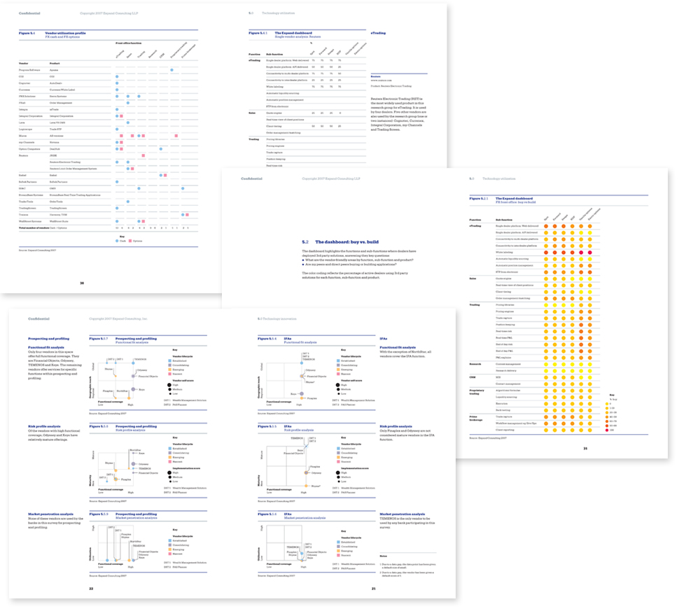 Image of pages from Expand's strategic intelligence reports